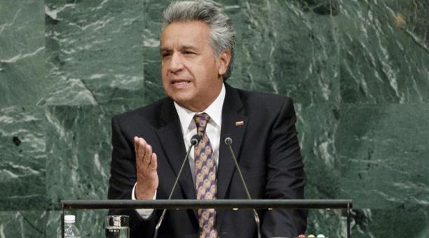Presidente Lenin Moreno intervendrá en debate en la Asamblea General de la ONU.