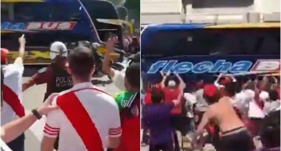 Chofer del bus de Boca pierde el conocimiento.