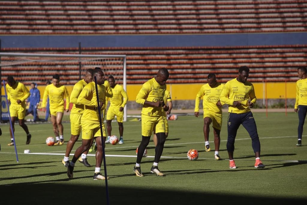 La Tricolor incompleta en los entrenamientos.
