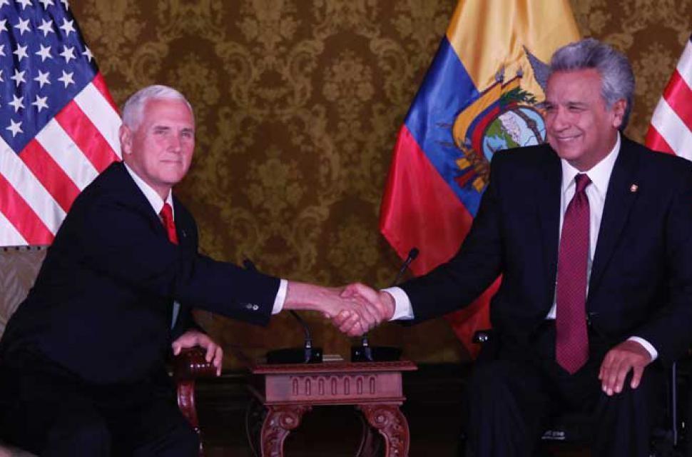 Lenin Moreno recibe felicitaciones desde Estados Unidos.