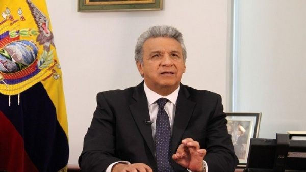 Lenin Moreno hace un llamado para la lucha anticorrupción.