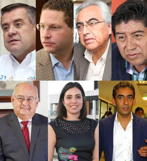 Cuatro candidatos confirmados para la Alcaldía de Quito.