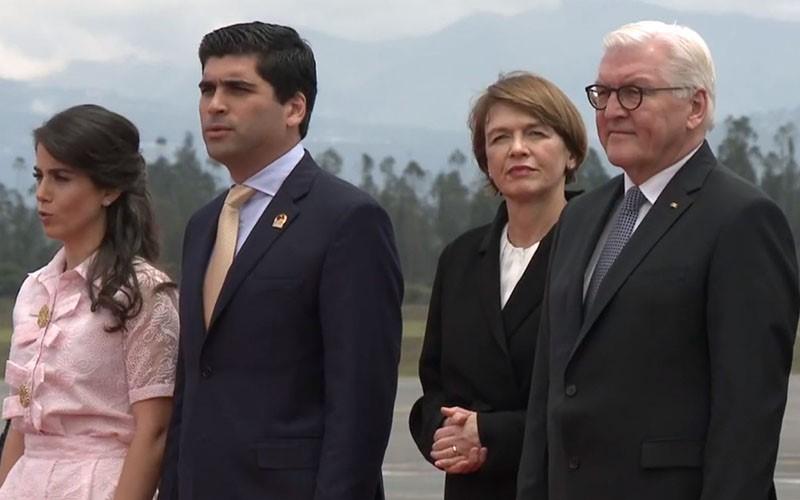 Ecuador recibe la visita del primer mandatario alemán luego de 26 años.