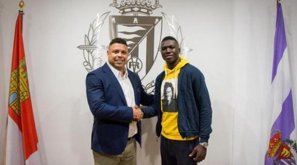 Stiven Plaza podría realizar su debut con el Valladolid ante el FC. Barcelona.
