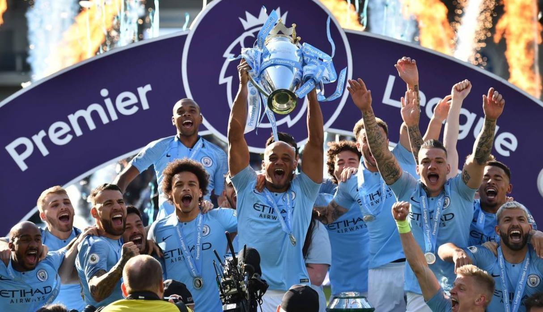 El Manchester City se proclamó campeón de la Premier League en la última jornada.